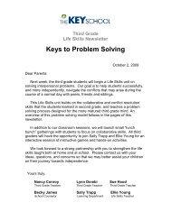 Keys to Problem Solving - Key School