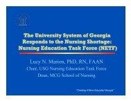 Nursing Education Task Force (NETF) - University System of Georgia