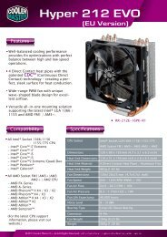 Hyper 212 EVO (EU) Product Sheet page 1 - Hardwareversand.de