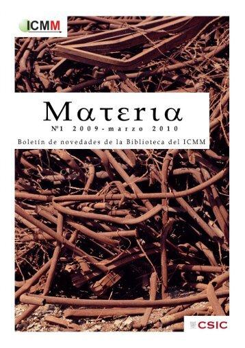 Mατεrια - Materials Science Institute of Madrid - Consejo Superior de
