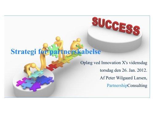 Strategi for partnerskabelse - Innovation X
