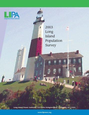 2003 Long Island Population Survey - Long Island Power Authority