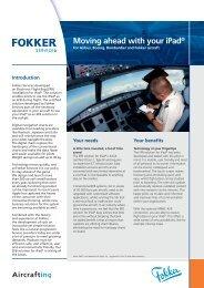 Download leaflet iPad Electronic Flight Bag ... - Fokker FLYFokker