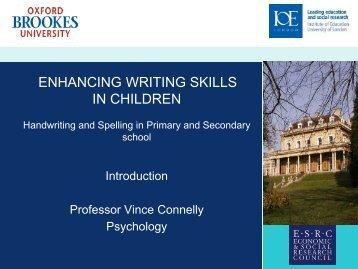 ENHANCING WRITING SKILLS IN CHILDREN