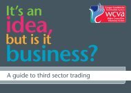A guide to third sector trading - WCVA