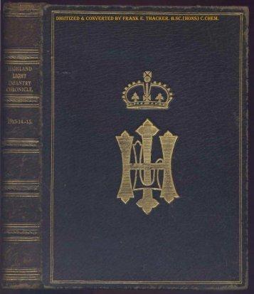 HLI Chronicle 1915 - The Royal Highland Fusiliers