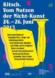 Tagungsprogramm und Abstracts - Germanistisches Institut MLU ...