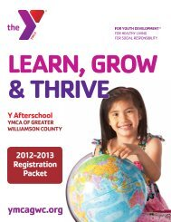 Y AFTERSCHOOL REGISTRATION FORM - YMCA of Greater ...