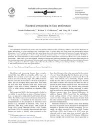 Featural processing in face preferences - Percepts and Concepts ...