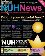 July / August 2012 - Nottingham University Hospitals NHS Trust