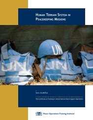 human terrain system in peacekeeping missions - Peace Operations ...