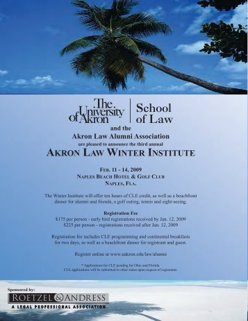 akron law winter institute - University of Akron Windows SharePoint ...