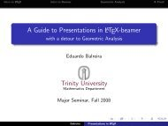 A Guide to Presentations in LaTeX-beamer - with ... - Trinity University