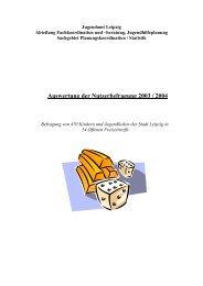 Auswertung der Nutzerbefragung 2003 / 2004