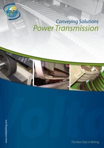 Power transmission belts - Volta Belting Technology Ltd.