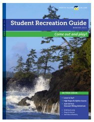 Winter 2013 Student Recreation Guide - North Island College