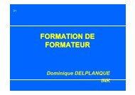 FORMATION DE FORMATION DE FORMATEUR