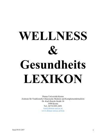 WELLNESS Gesundheits LEXIKON - i-gap.org