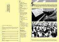 Kirchenmusikalisches Werkwochenende - Amt für Kirchenmusik