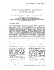 transformation of polyphenols from biomass by some yeast species