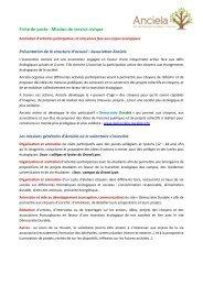 Fiche de poste : Mission de service civique - Loire Solidaires