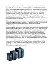 Micromaster Hızkontrollerle Haberleşme TR - Teknika Otomasyon