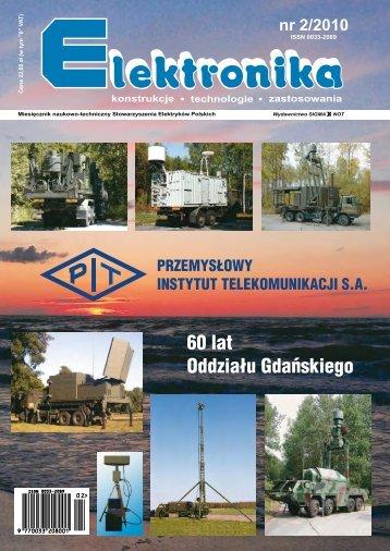 Elektronika 2010-02.pdf - Instytut Systemów Elektronicznych ...