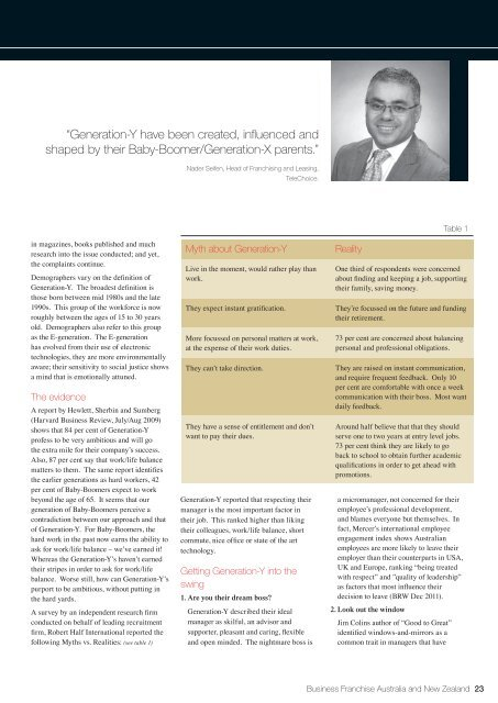 Nader Seifen, TeleChoice.pdf - Business Franchise Magazine