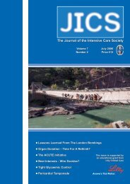 Volume 7 Number 2 July 2006 - JICS - The Intensive Care Society