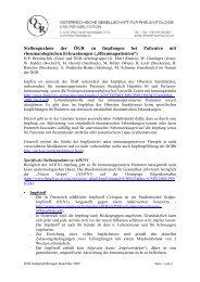 Stellungnahme der ÖGR zu Impfungen bei Patienten mit ...