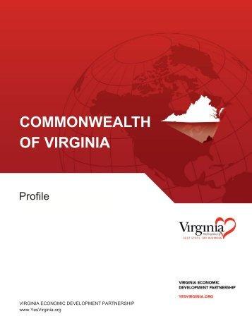 Profile - Virginia Scan - Virginia Economic Development Partnership