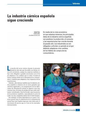 La industria cárnica española sigue creciendo