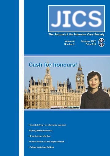 Volume 8 Number 2 July 2007 - JICS - The Intensive Care Society