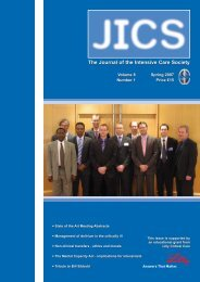 Volume 8 Number 1 April 2007 - JICS - The Intensive Care Society