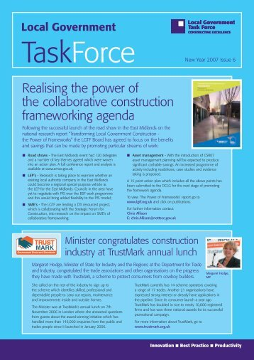 LGTF Newsletter - Issue 6 - Constructing Excellence