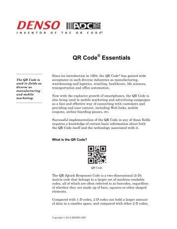 DENSO ADC QR Code White Paper - BlueStar