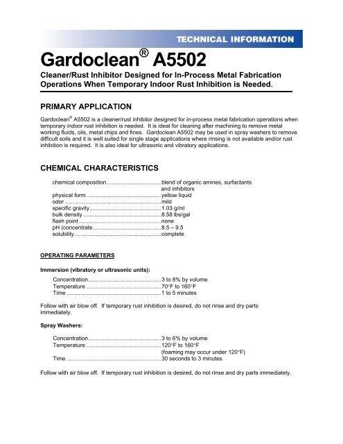 Gardoclean A5502 - Chemetall