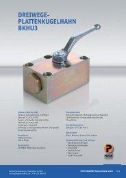 BKHU3 Plattenkugelhahn - Ernst Wagener Hydraulikteile GmbH
