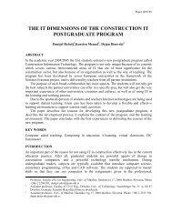 the it dimensions of the construction it postgraduate program