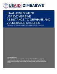 Final Assessment USAID/Zimbabwe Assistance to ... - GH Tech