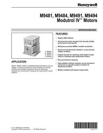 63 2190 series 90 modutrol iv motors honeywell rh yumpu com Honeywell Modutrol Motor Schematic Honeywell Modutrol Motor