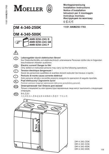 DM4-340-250K bis DM4-340-500K - Moeller