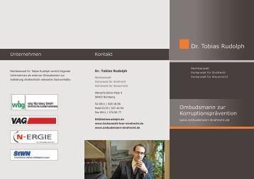 Ombudsmann - Rudolph Rechtsanwälte