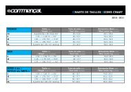 CHARTE DE TAILLES/ SIZING CHART - commencal-bikes.at