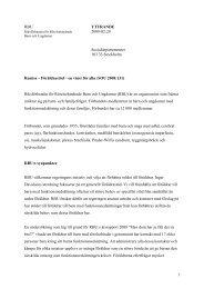 Föräldrastöd – en vinst för alla (SOU 2008:131) - RBU