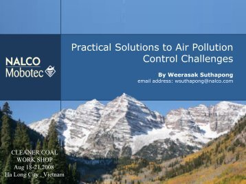 Practical Solutions to Air Pollution Control Challenges