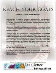 REACH YOUR GOALS - Oakland University School of Business ...