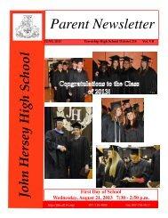June Newsletter Available - John Hersey High School - High School ...