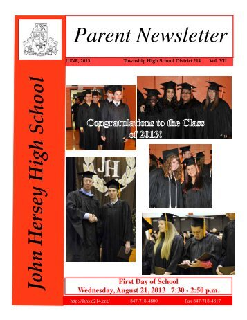 June Newsletter Available - John Hersey High School - High School ...
