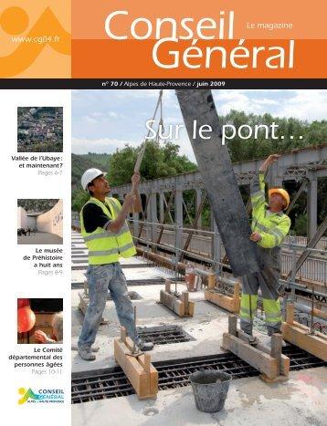 Sur le pont… - Conseil Général des Alpes de Haute Provence